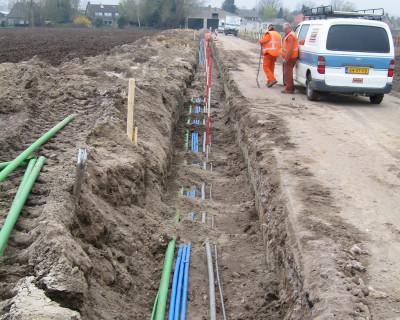 Gecombineerde aanleg Water, Gas, Elektra, Telecom en Cai