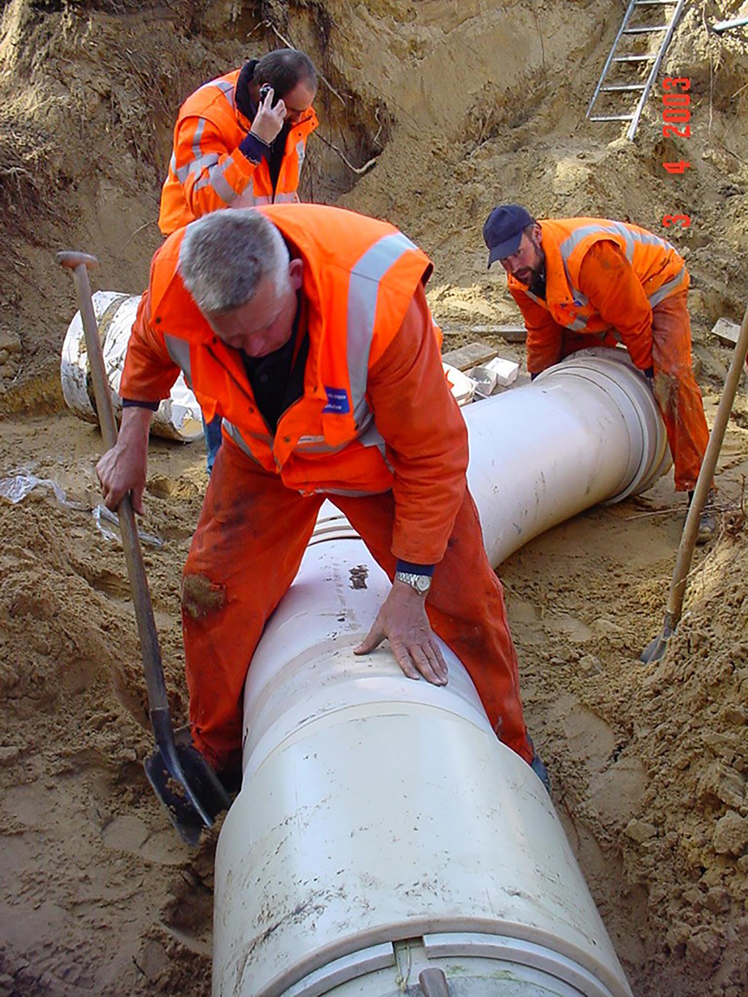 Aanleg watertransportleiding in Oss
