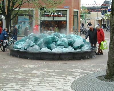 Elektrotechnische installatie fontein op Bevrijdingsplein te Ede